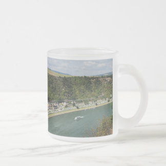 Passenger train to the Loreley Frosted Glass Coffee Mug