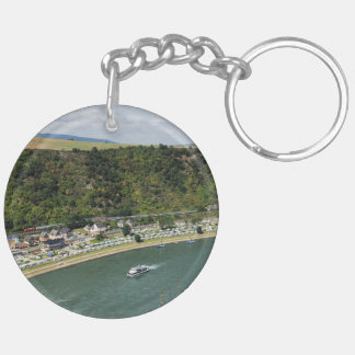 Passenger train to the Loreley Keychain
