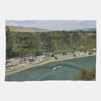 Passenger train to the Loreley Kitchen Towel
