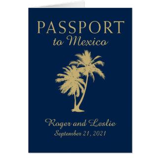 Passeport de mariage de Cancun Mexique Carte De Correspondance