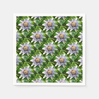 Passiflora Against Green Foliage In A Garden Paper Napkins