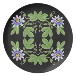 Passiflora Blue Passion Flower Plate