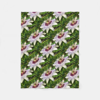 Passiflora Close Up With Garden Background Fleece Blanket