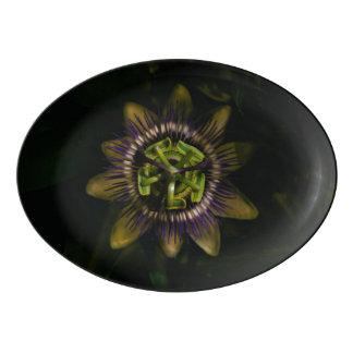 passiflora porcelain serving platter