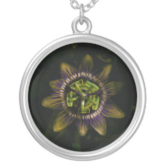 passiflora silver plated necklace