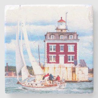 Passing Ledge Light Stone Coaster