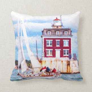 Passing Ledge Light Throw Pillow