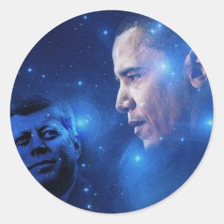 Passing of the Torch, John F. Kennedy Barack Obama Round Sticker