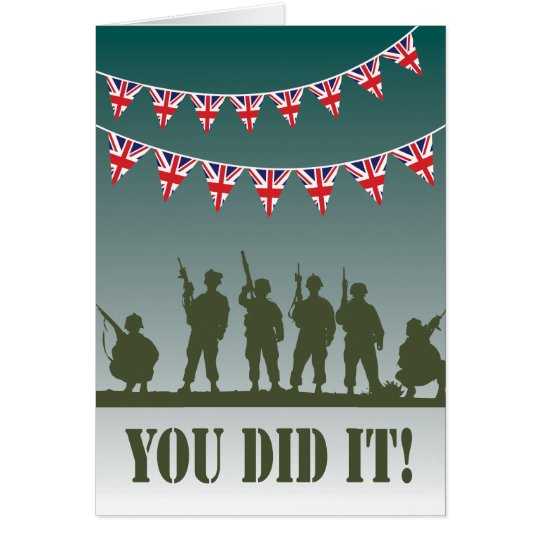 Passing Out Bunting British Army Soldiers Congrats Card