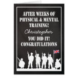 Passing Out Parade, British Army Soldiers Congrats Greeting Card