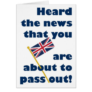 Passing Out Parade Congratulations Fun Union Jack Card