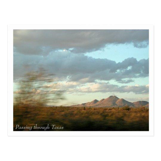 Passing through Texas Postcard