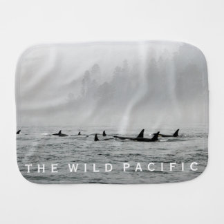Passing Whales Burp Cloth