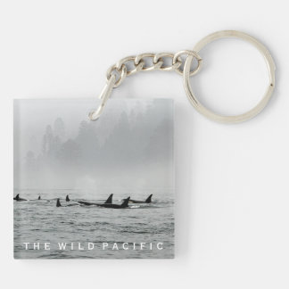 Passing Whales Keychain