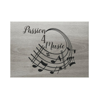 Passion 4 Music Canvas Print