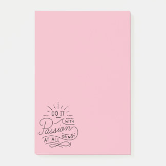 Passion, Attitude Life Success Motivational Quote Post-it Notes