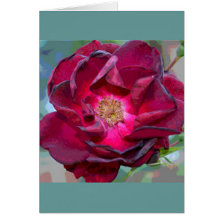 Passion Burgandy Flower Card