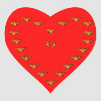 Passion butterfly love in heart - Dance with me Heart Sticker