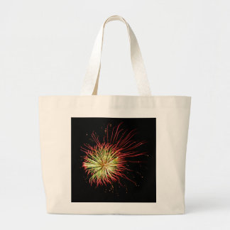 Passion Flower Abstract Fireworks Photo Art Tote Jumbo Tote Bag
