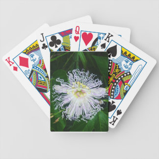 Passion flower bicycle playing cards