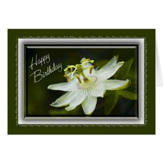 Passion Flower Birthday Card