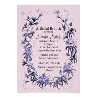 Passion Flower Bridal Shower Invitation