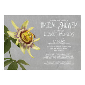 Passion Flower Bridal Shower Invitations