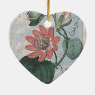 Passion Flower Ceramic Ornament