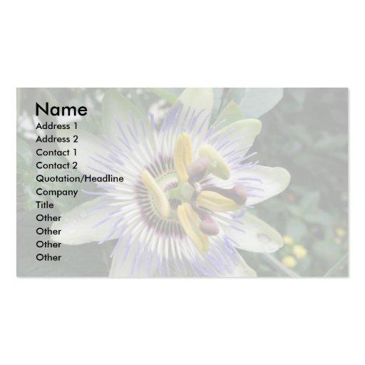 Passion Flower Custom Business Card