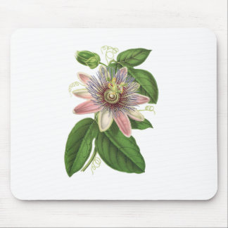 Passion flower mouse pad