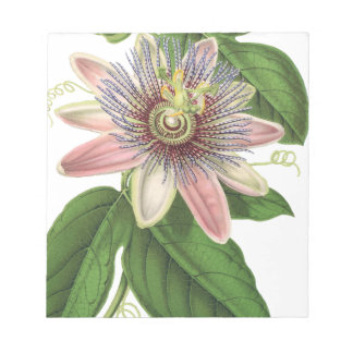 Passion flower notepad