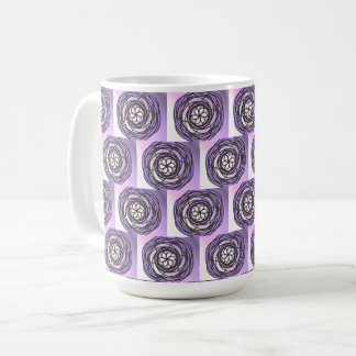 Passion Flower Purple Pattern Coffee Mug