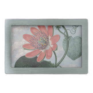 Passion Flower Rectangular Belt Buckle