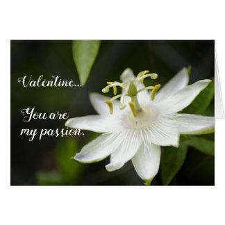 Passion flower valentine card