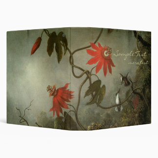 Passion Flowers and Hummingbirds 3 Ring Binder
