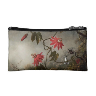 Passion Flowers and Hummingbirds double-sided Cosmetic Bags