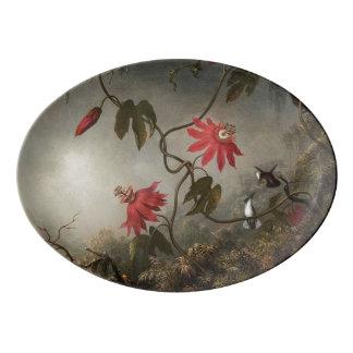Passion Flowers Porcelain Serving Platter