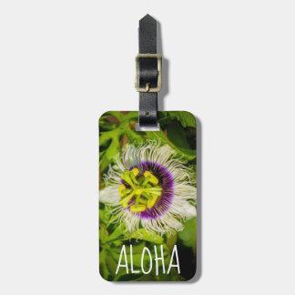 Passion Fruit Flower, Anaina Hou Gardens, Kilauea, Luggage Tag