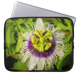 Passion Fruit Flower, Anaina Hou Gardens Wetsuit Laptop Sleeve