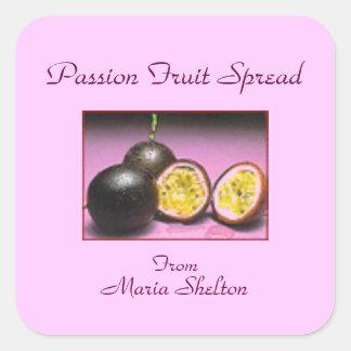 Passion Fruit Preserves Canning Label Custom