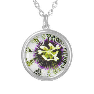passion-fruit silver plated necklace