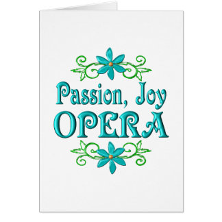 Passion Joy Opera Card