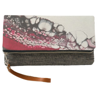 Passion Macro Abstract Art Clutch
