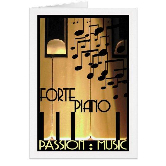 Passion:Music birthday/greeting card