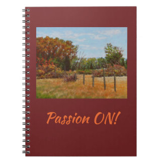 """Passion ON"" 80 page notebook"