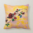 Passion Pieces Tattoo Roses Pillow