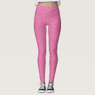 Passion Pink Faux Glitter Leggings