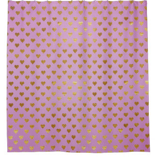 Passion Pink Golden Hearts