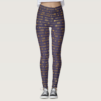 Passion Purple Golden Arrows Leggings