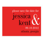 Passion red black typography modern save the date